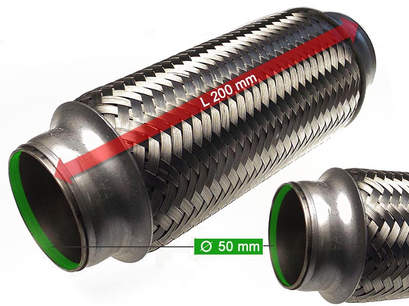 Flexible Hose Diameter 50 x 200 Length (mm)