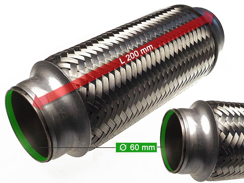 Flexible Hose Diameter 60 x 200 Length (mm)