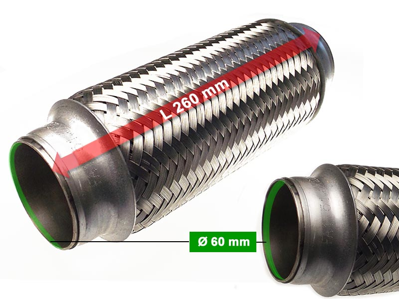 Flexible Hose Diameter 60 x 260 Length (mm)